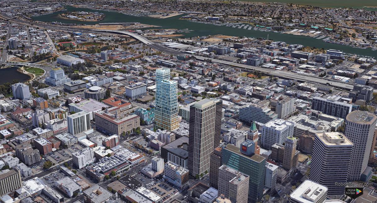 1261 Harrison Street photorealistic aerial rendering