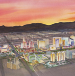 Las Vegas watercolor