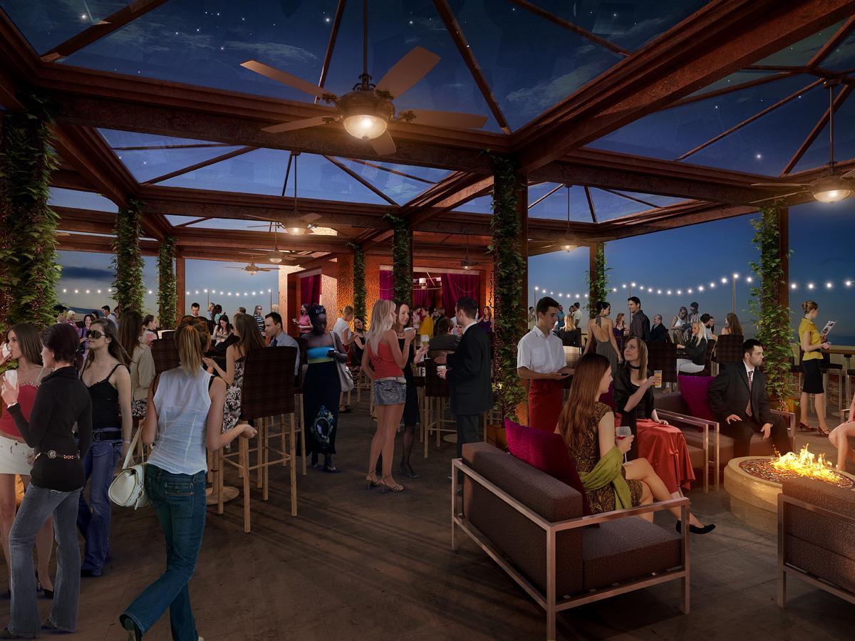1500 Roof deck digital rendering
