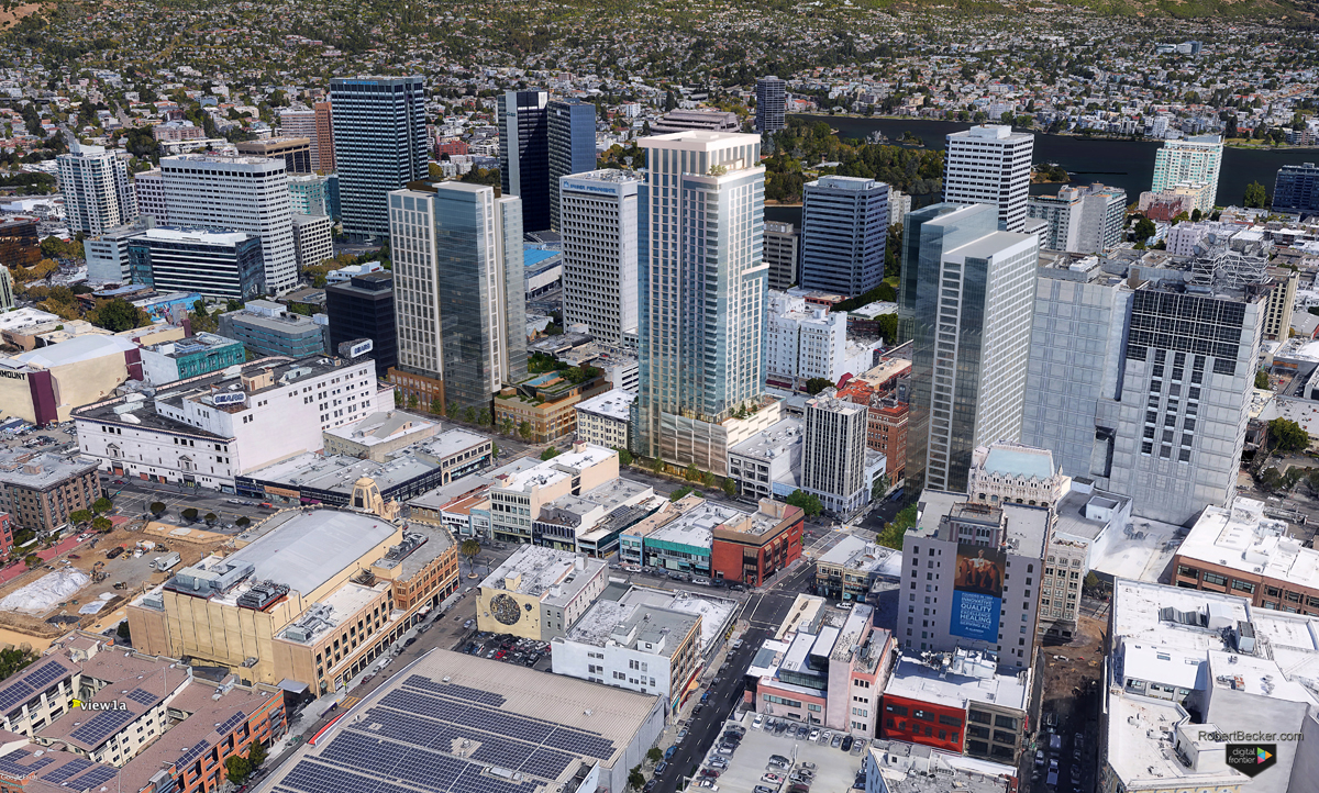 1750 Broadway Oakland aerial rendering