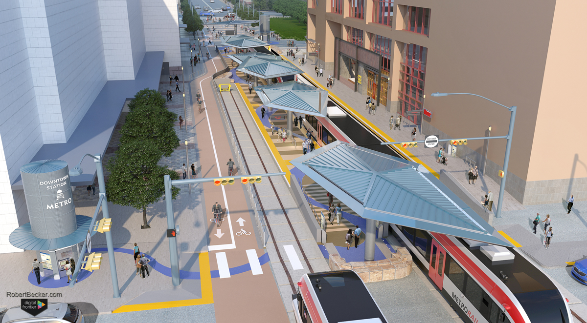 CMTA Downtown Station rendering