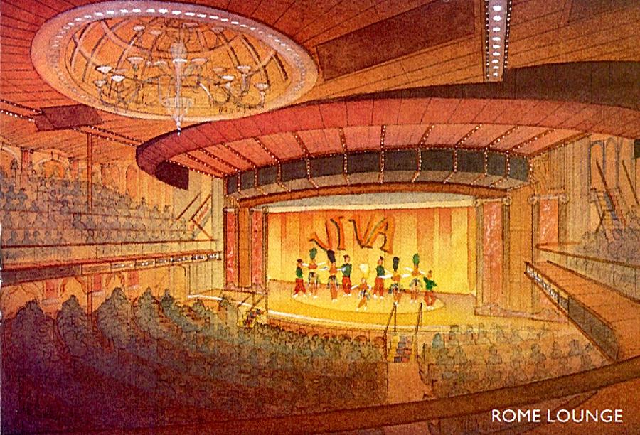 Carnival cruise ship lounge rendering
