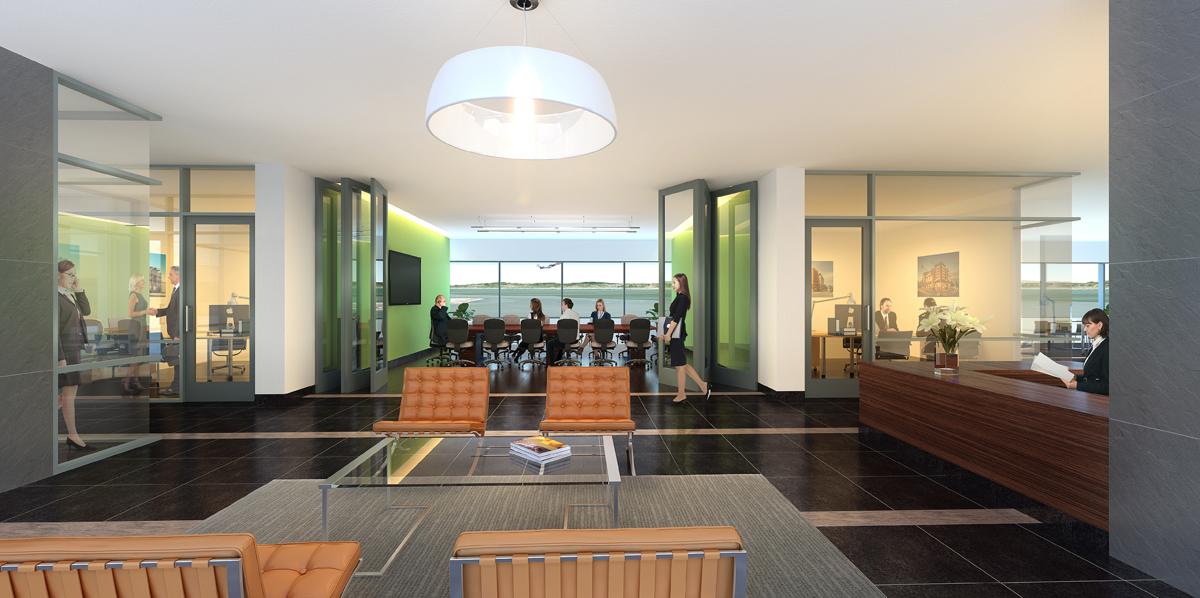 photorealistic lobby renderings