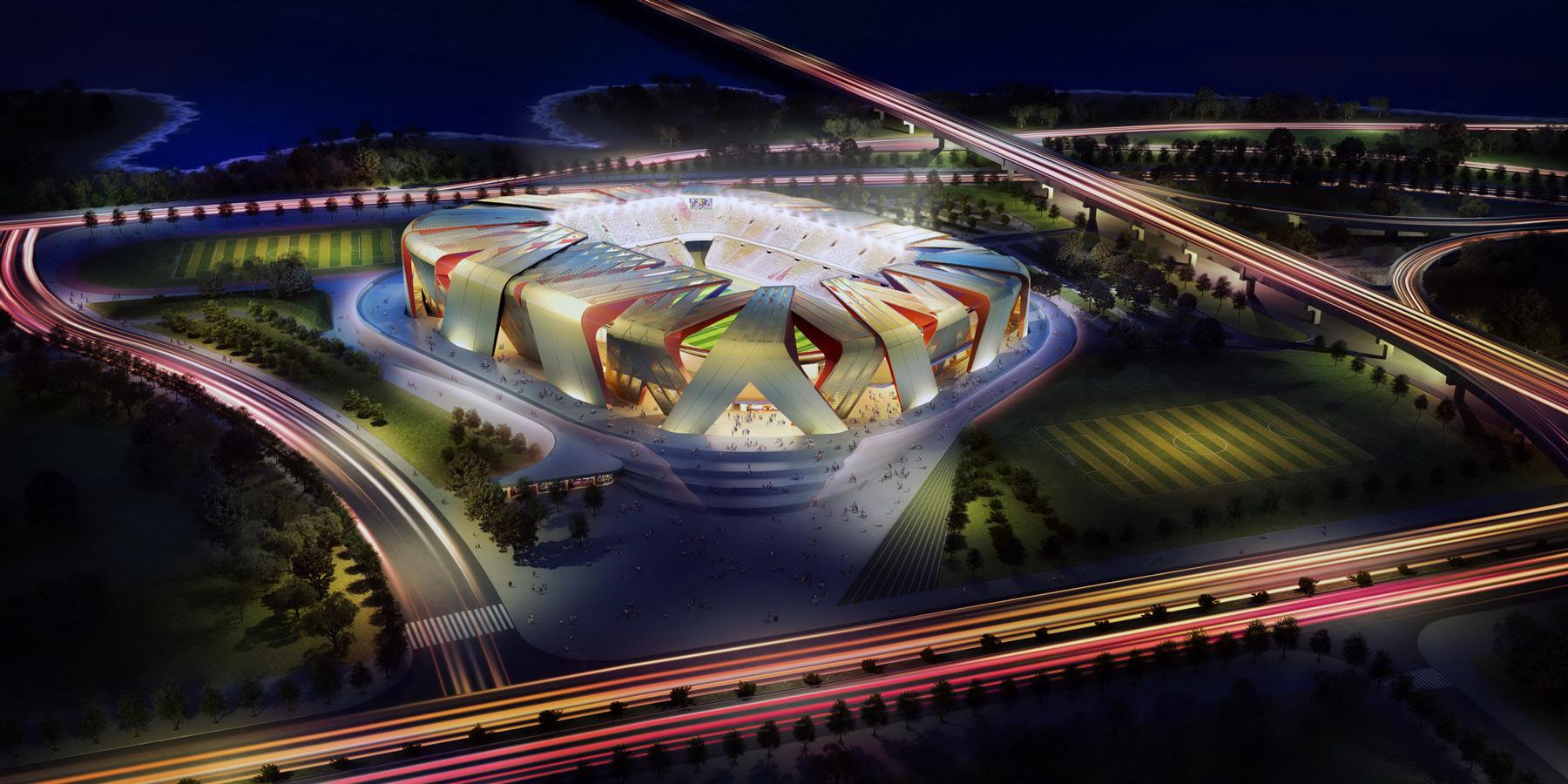 Football-Stadium-Dalian-China