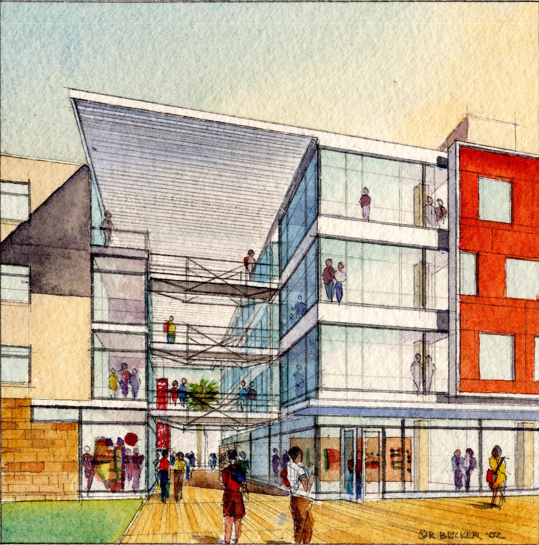 GHCP UCSD Entry watercolor sketch
