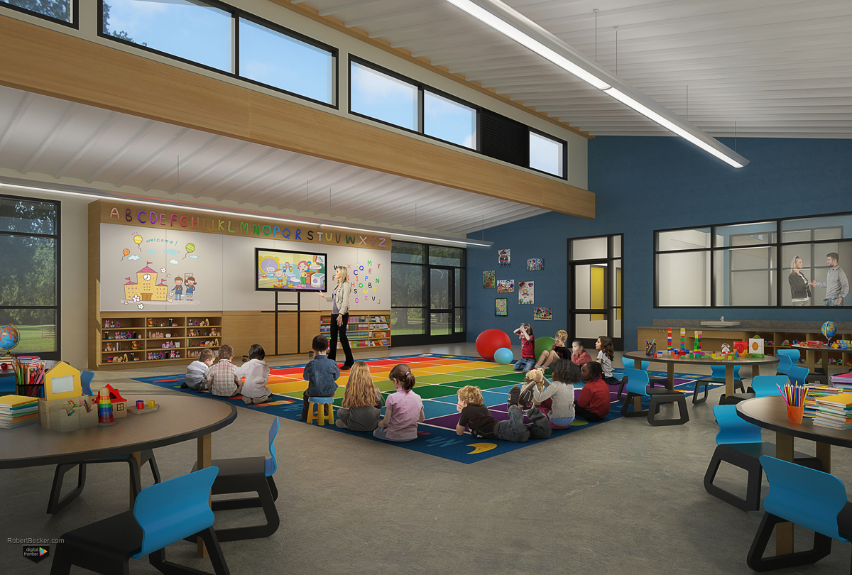 Hatch Elementary interior digital rendering