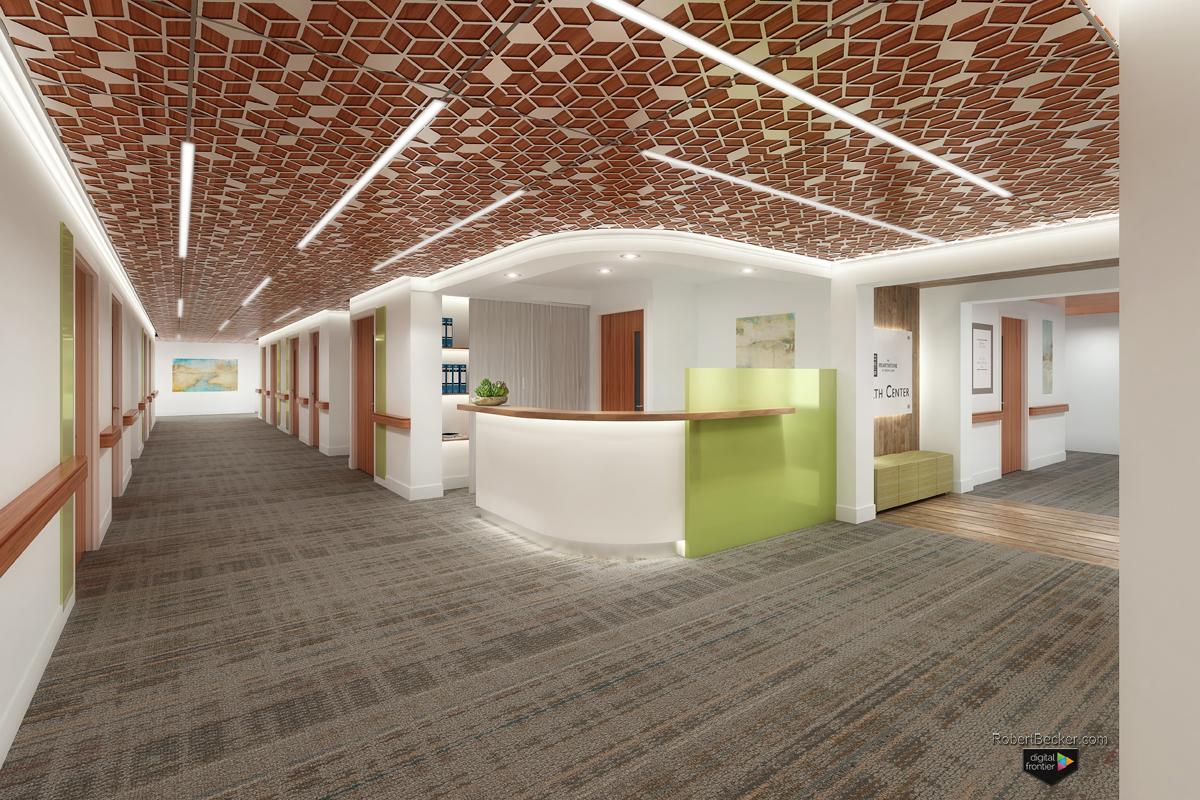 Hearthstone Health Center Nurse Station rendering