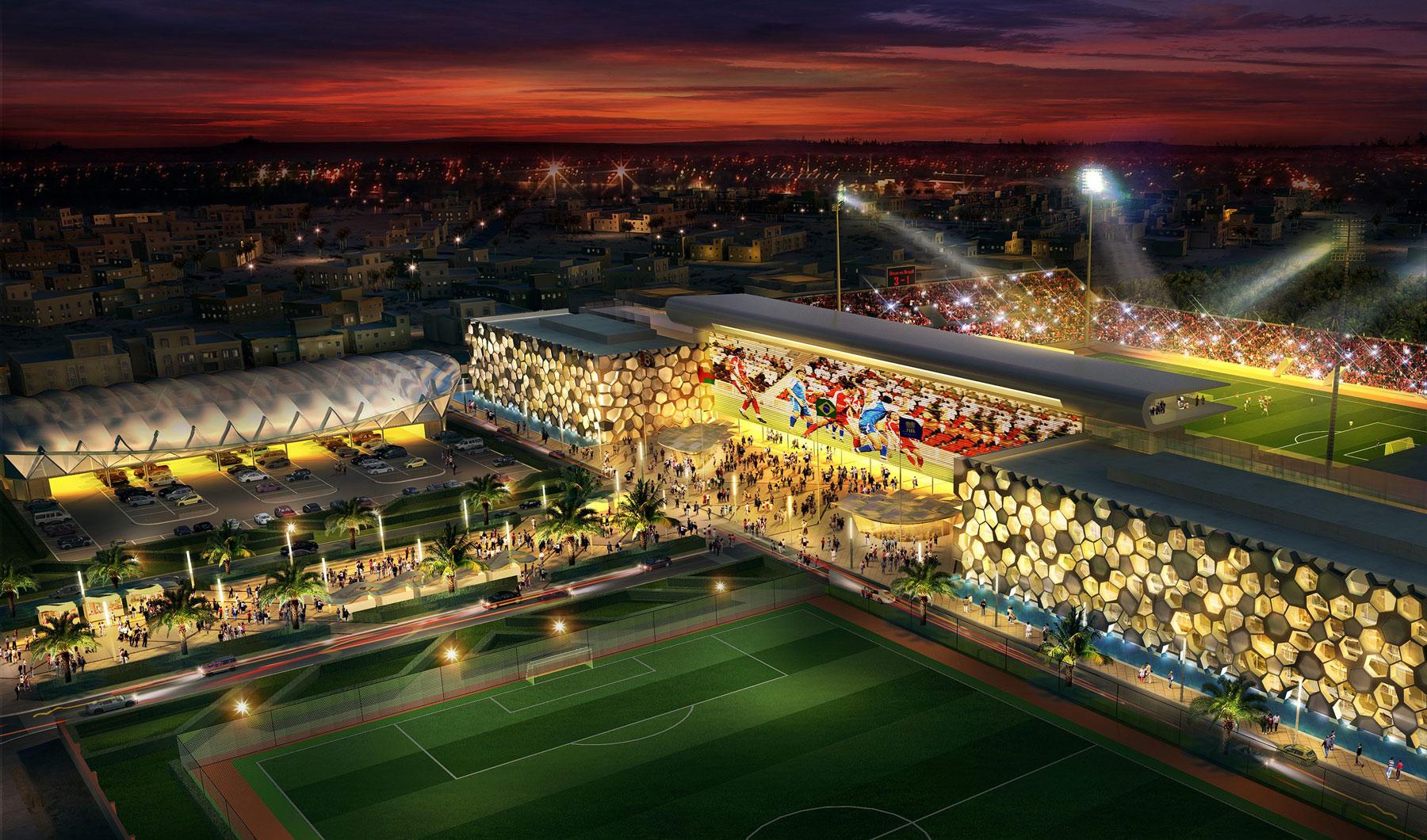 Oman-Football-Stadium rendering