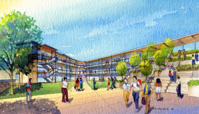 KM bentley MS courtyard watercolor rendering