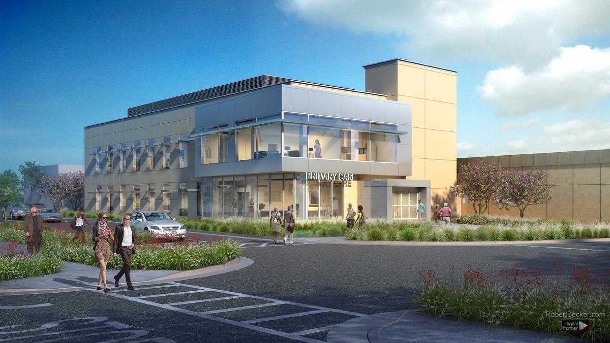 Mather VA building rendering