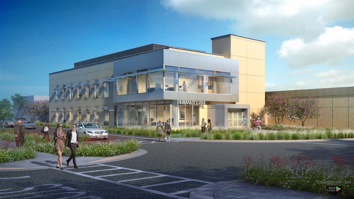 Mather VA building rendering