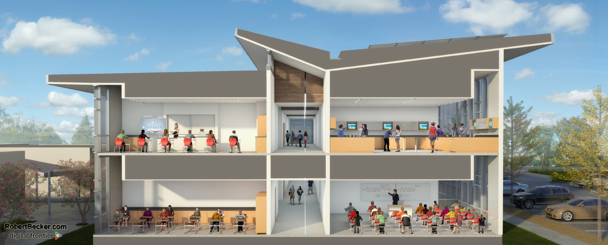 Montgomery HS section perspective rendering