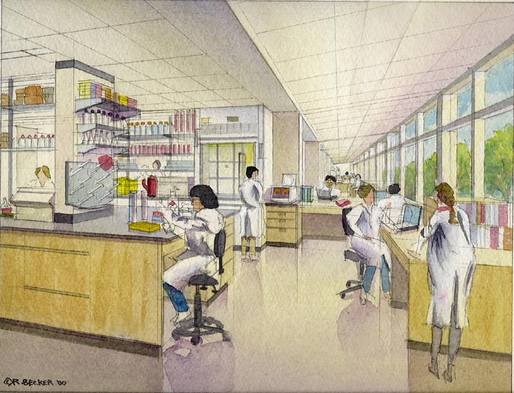 NBBJmoffitt lab_Architectural_Rendering_Watercolor