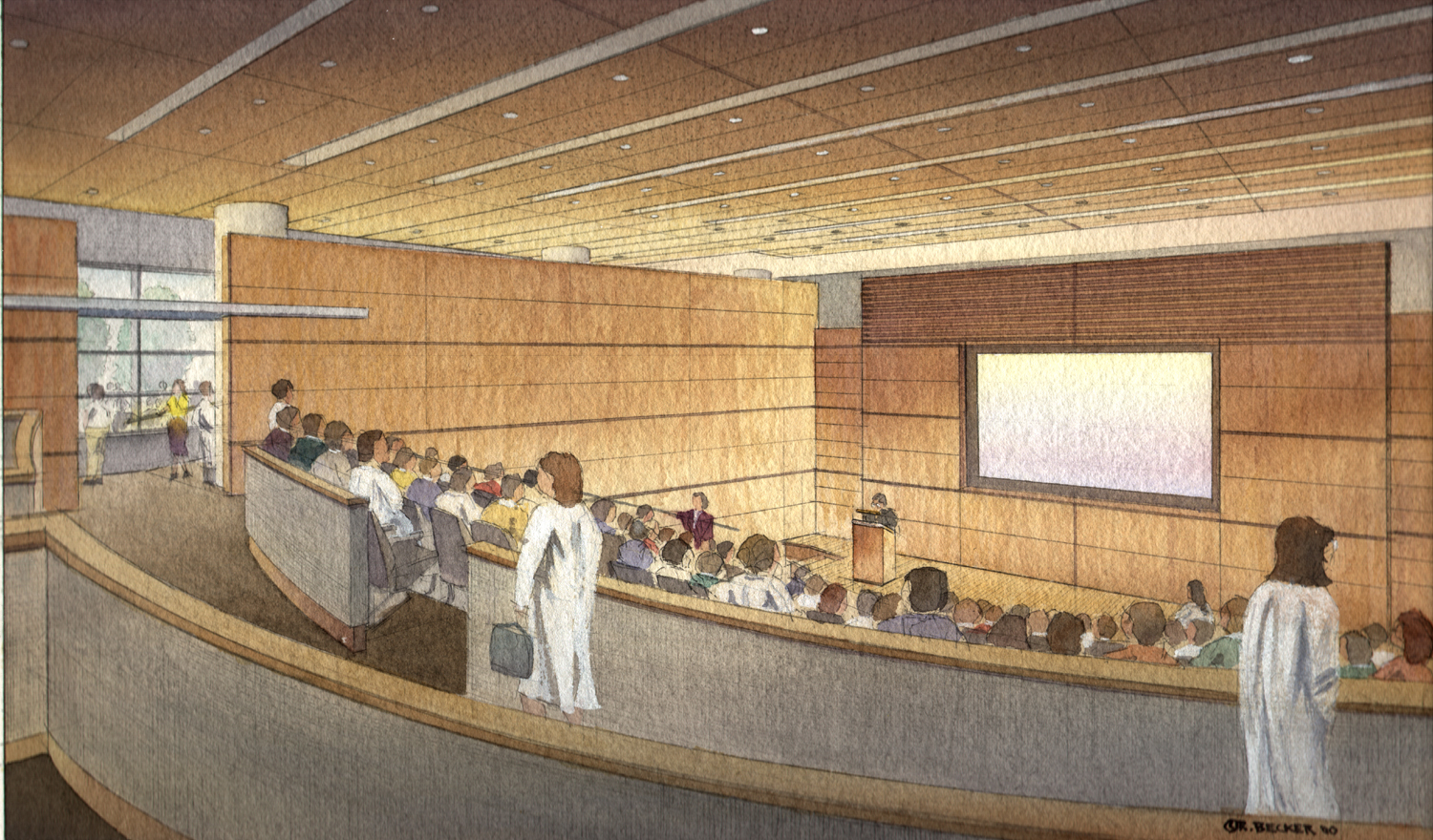 NBBJmoffittAuditorium_Architectural_Rendering_Watercolor
