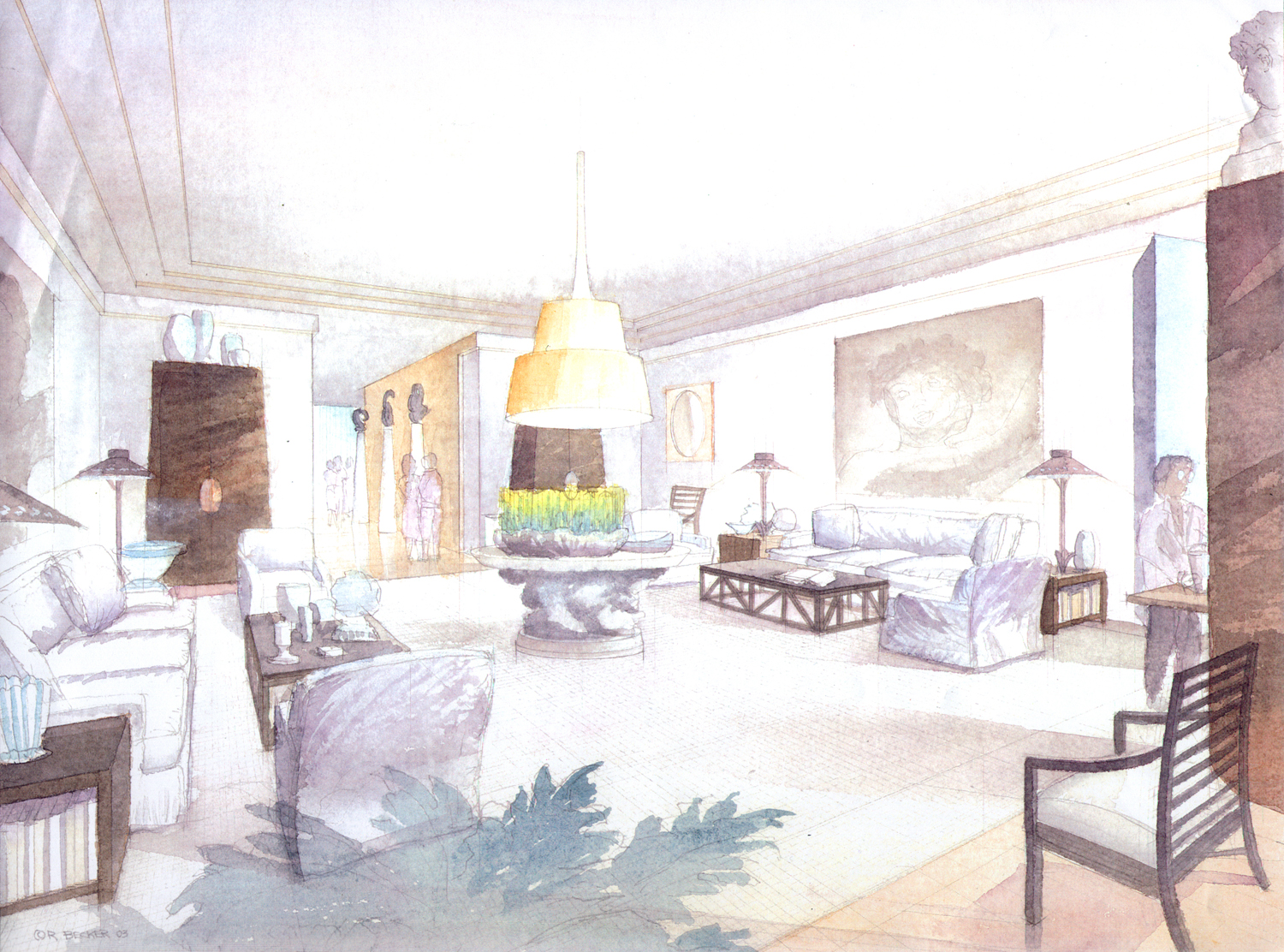 ODA one central park watercolor rendering
