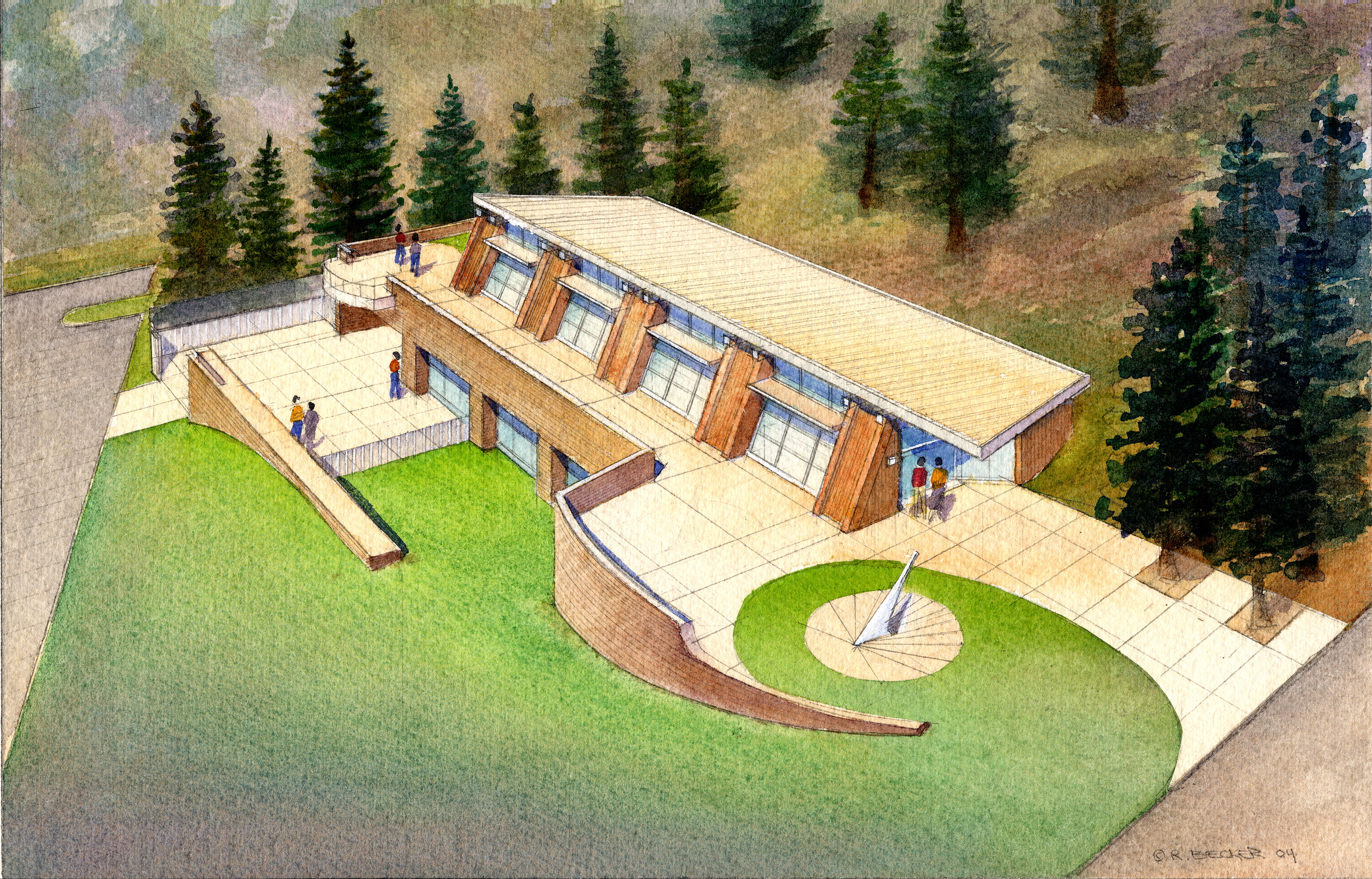 RSK_CSU_Humboldt_SERC_Architectural_Rendering_Watercolor