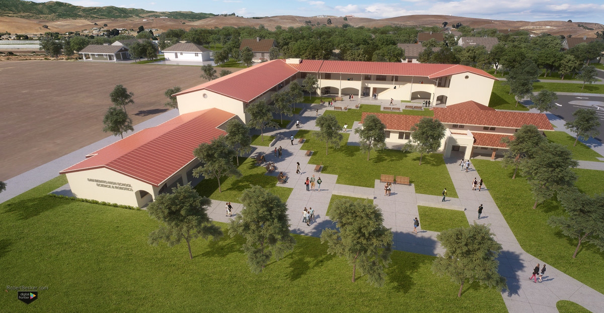 San Benito High School aerial rendering