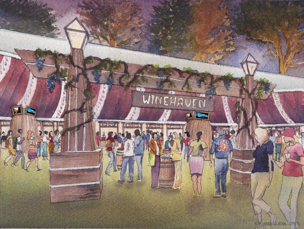 Winehaven tent for Outside Lands at Golden Gate Park