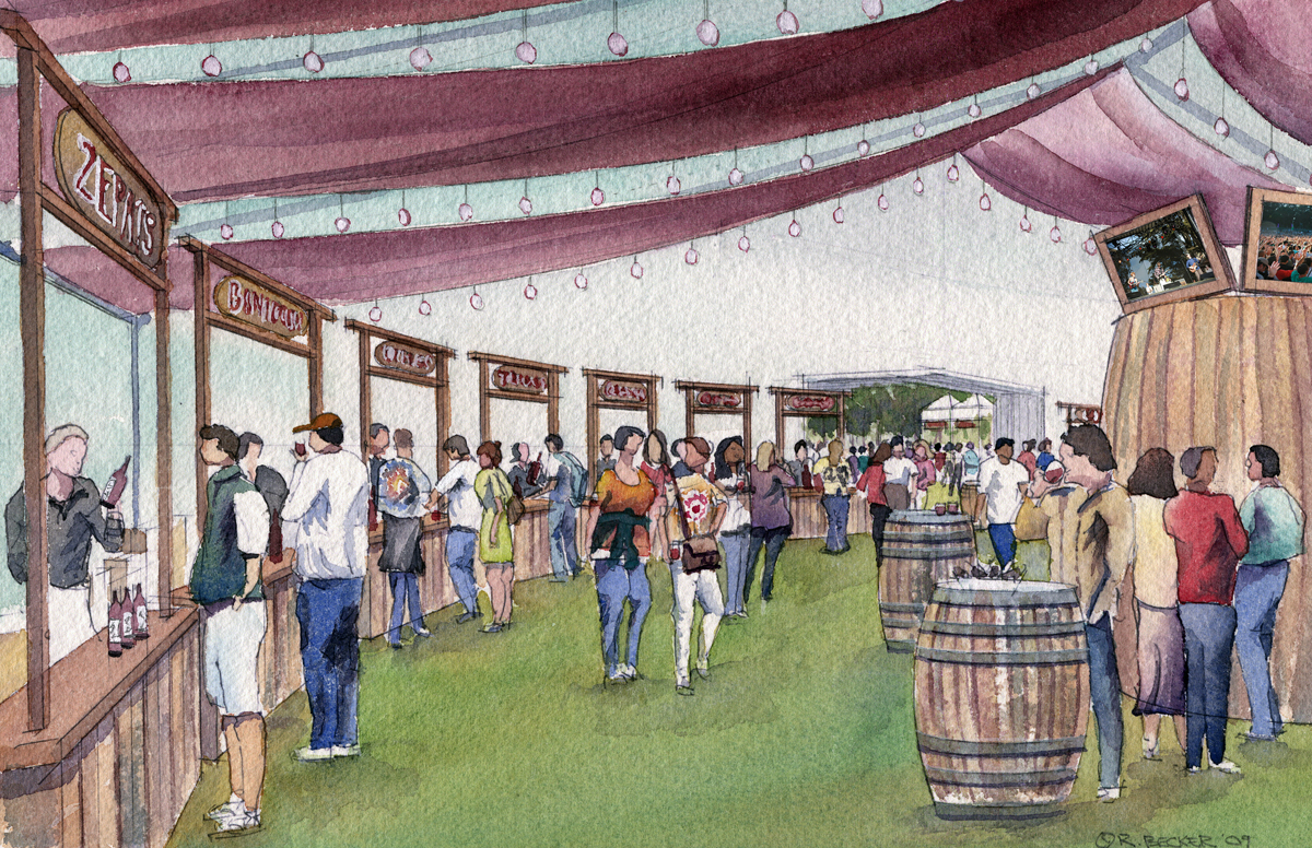 Winehaven tent for Outside Lands at Golden Gate Park