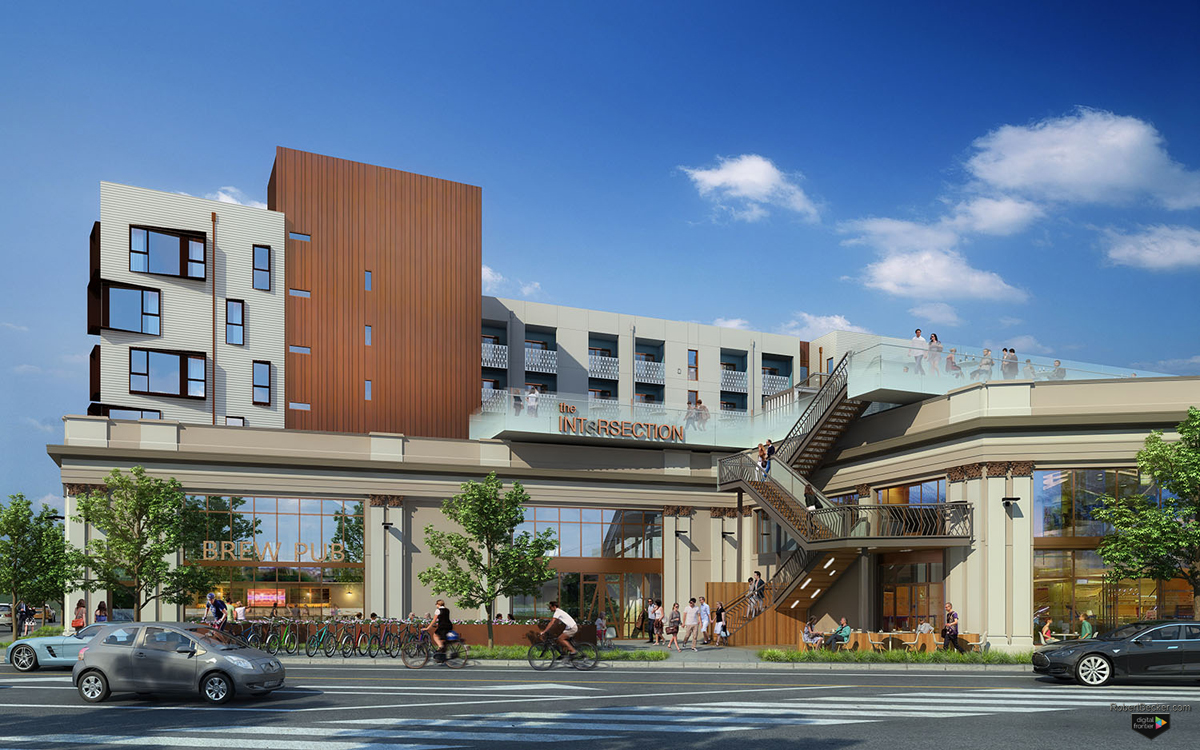 The Intersection street rendering Emeryville