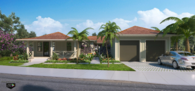 Hawaii residence exterior marketing rendering