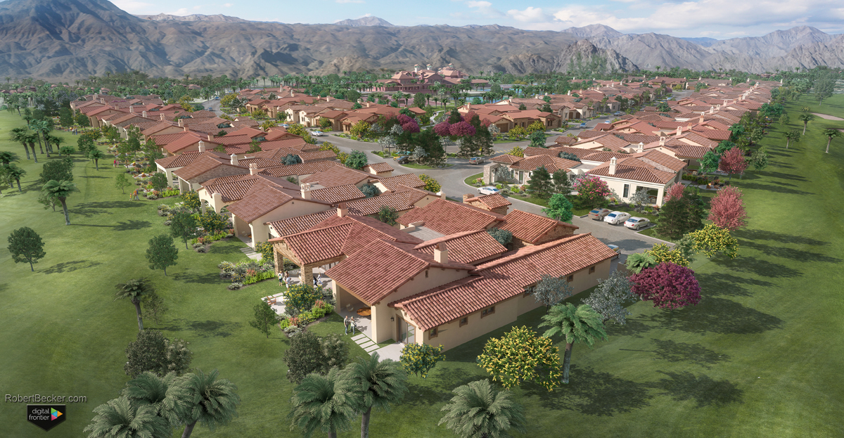 Village at Andalusia aerial rendering