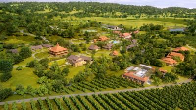 Aetna Springs Resort aerial rendering