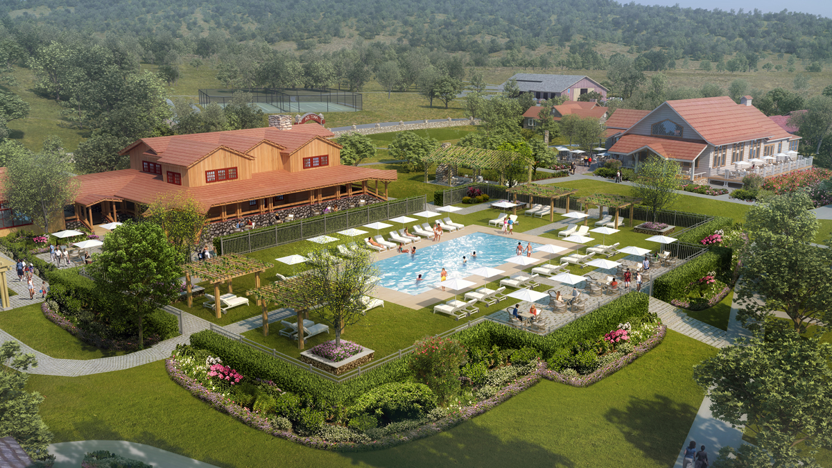 Aetna Springs Resort aerial rendering