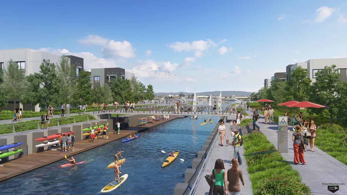 Alameda Kayak Lagoon digital rendering