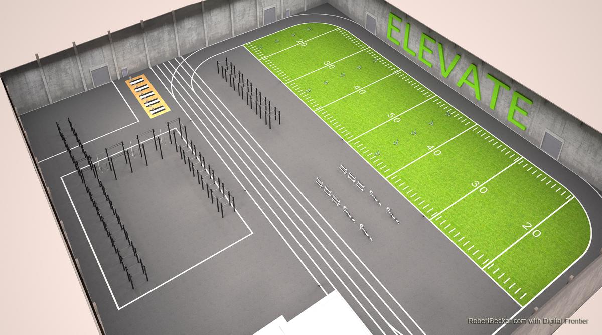 AthleticTrainingCenter cutaway rendering