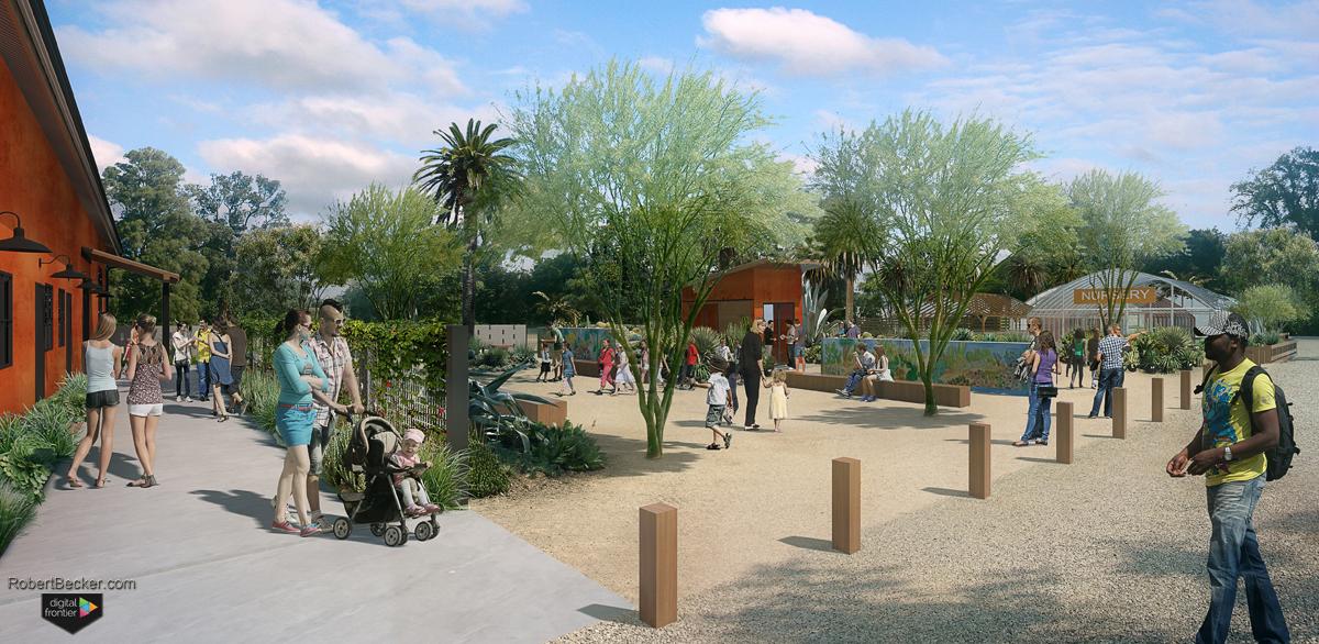 Bancroft Gardens Walnut Creek landscape rendering