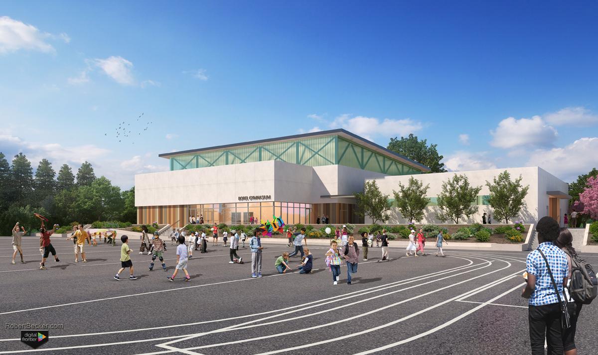 Borel digital schoolyard rendering