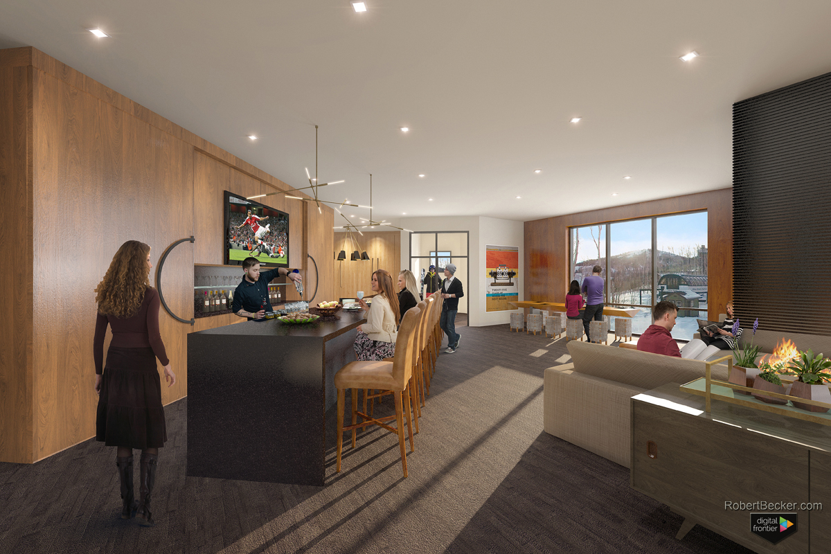 One Empire Place common area digital rendering