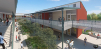 Cupertino High School digital rendering