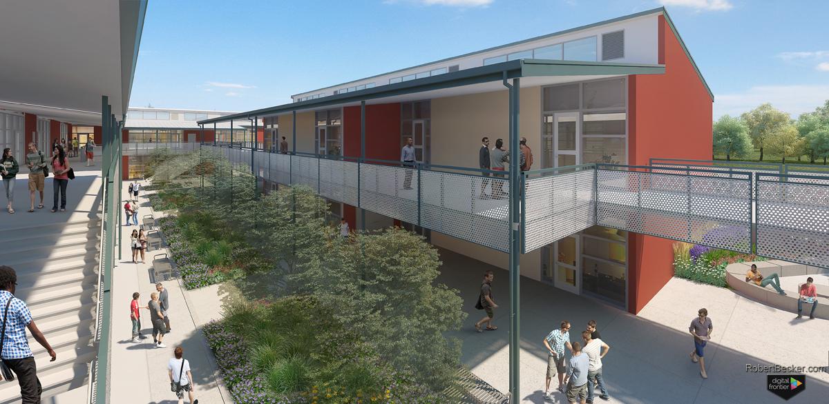 Cupertino High School digital rendering