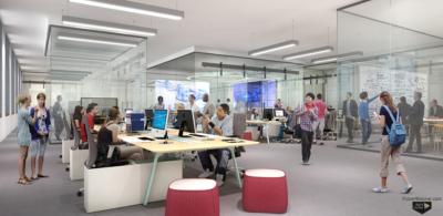 DREB 2nd Floor interior rendering