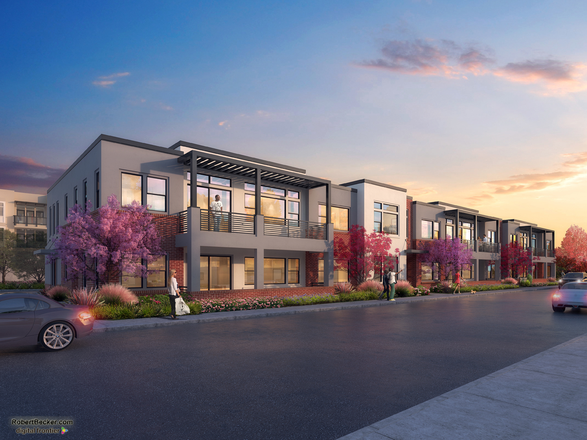 East Main District photorealistic rendering