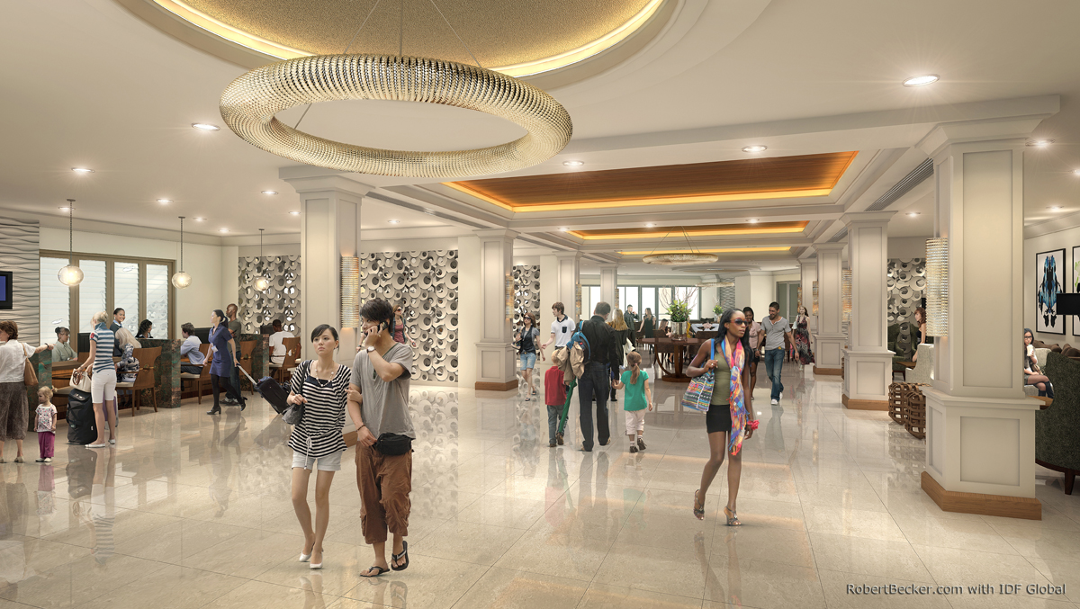 Grand Lucayan Reception digital rendering