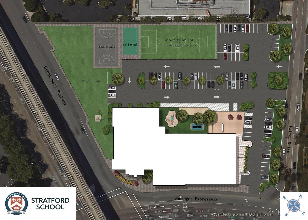 rendered site plan
