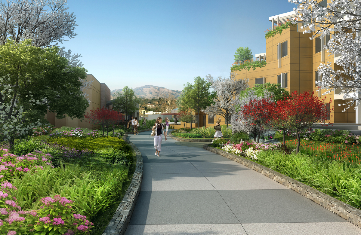 Centre Place South Walnut Creek landscaping rendering
