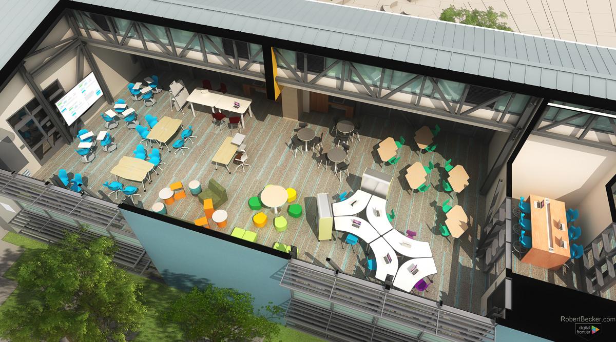 Folia Interior cutaway digital rendering
