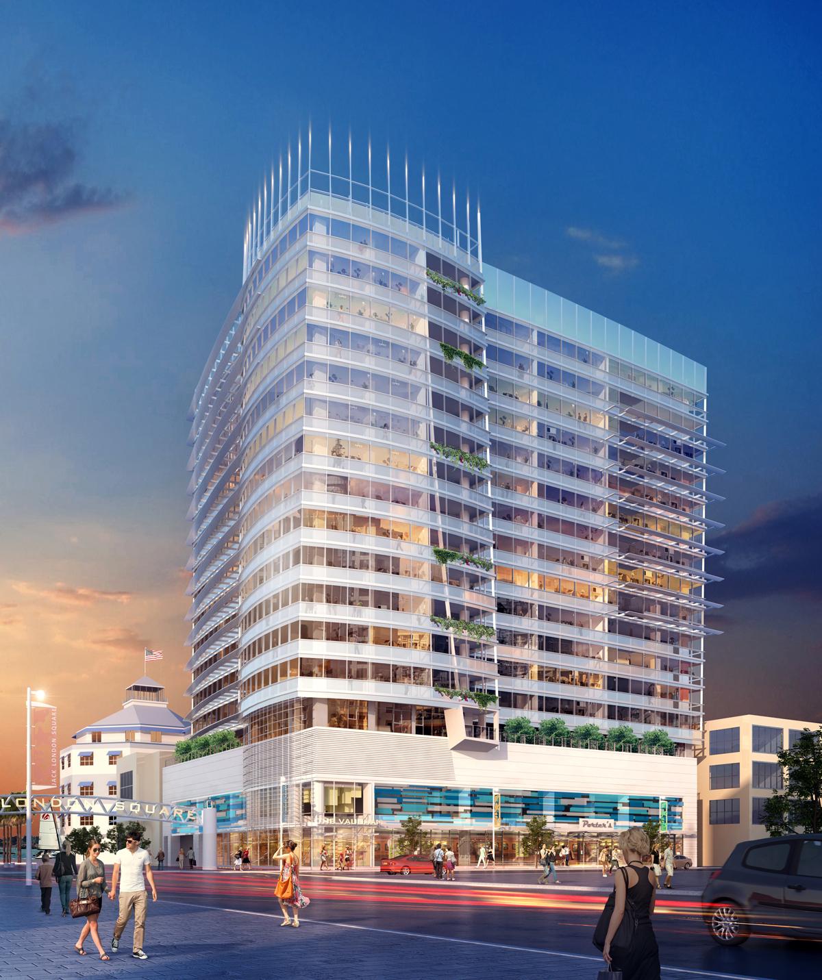 Jack London Square Oakland tower rendering