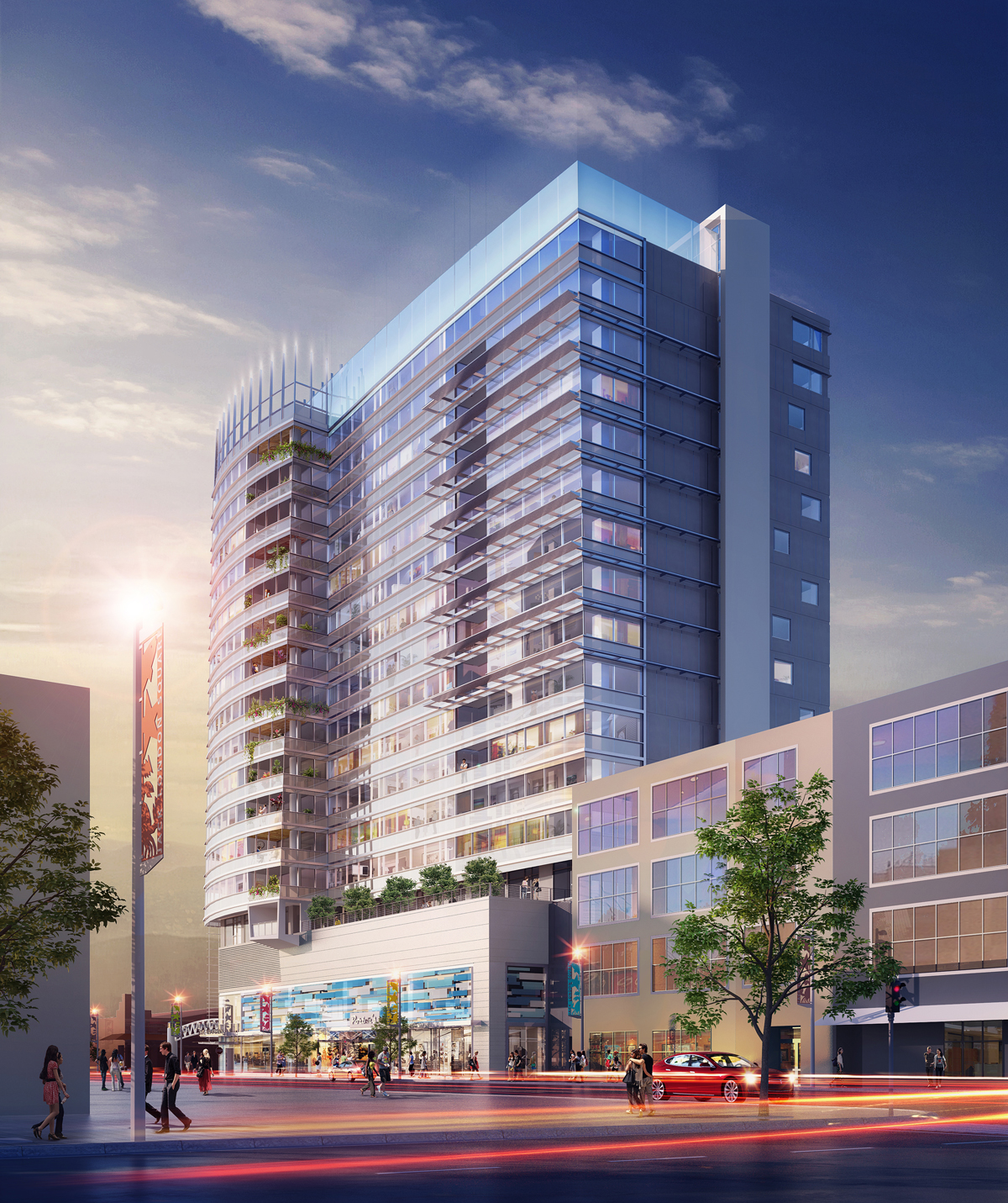 Jack London Square Oakland tower rendering
