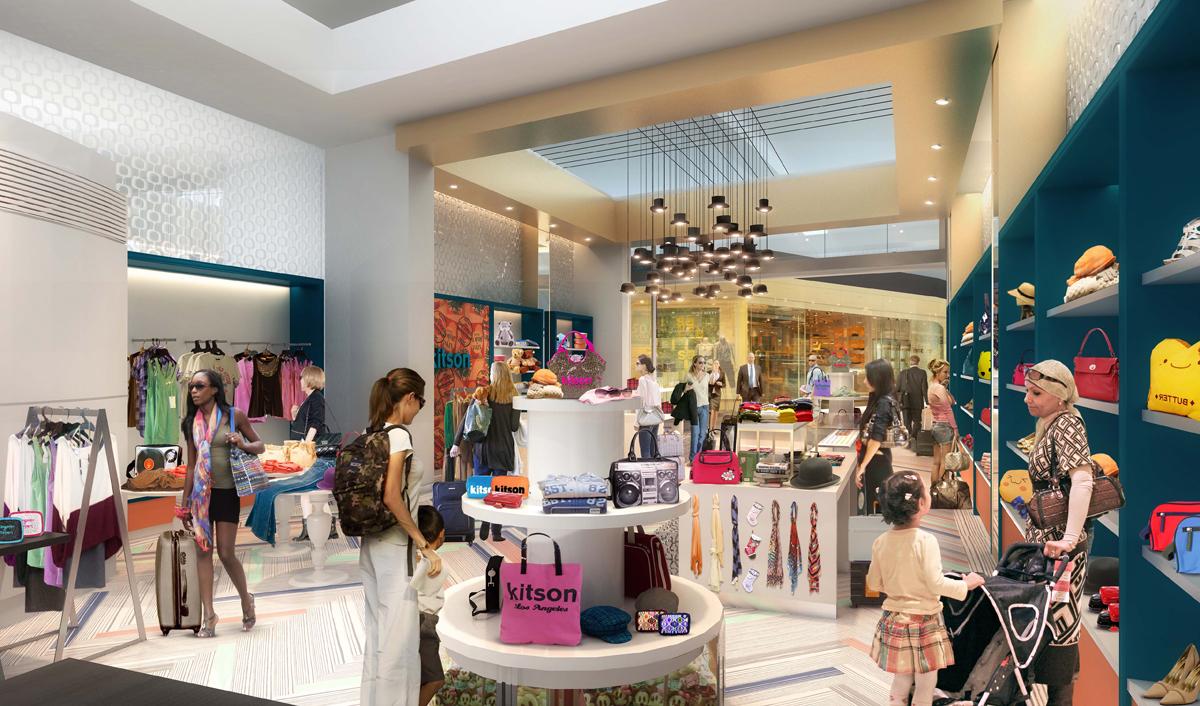 LAX Retail rendering