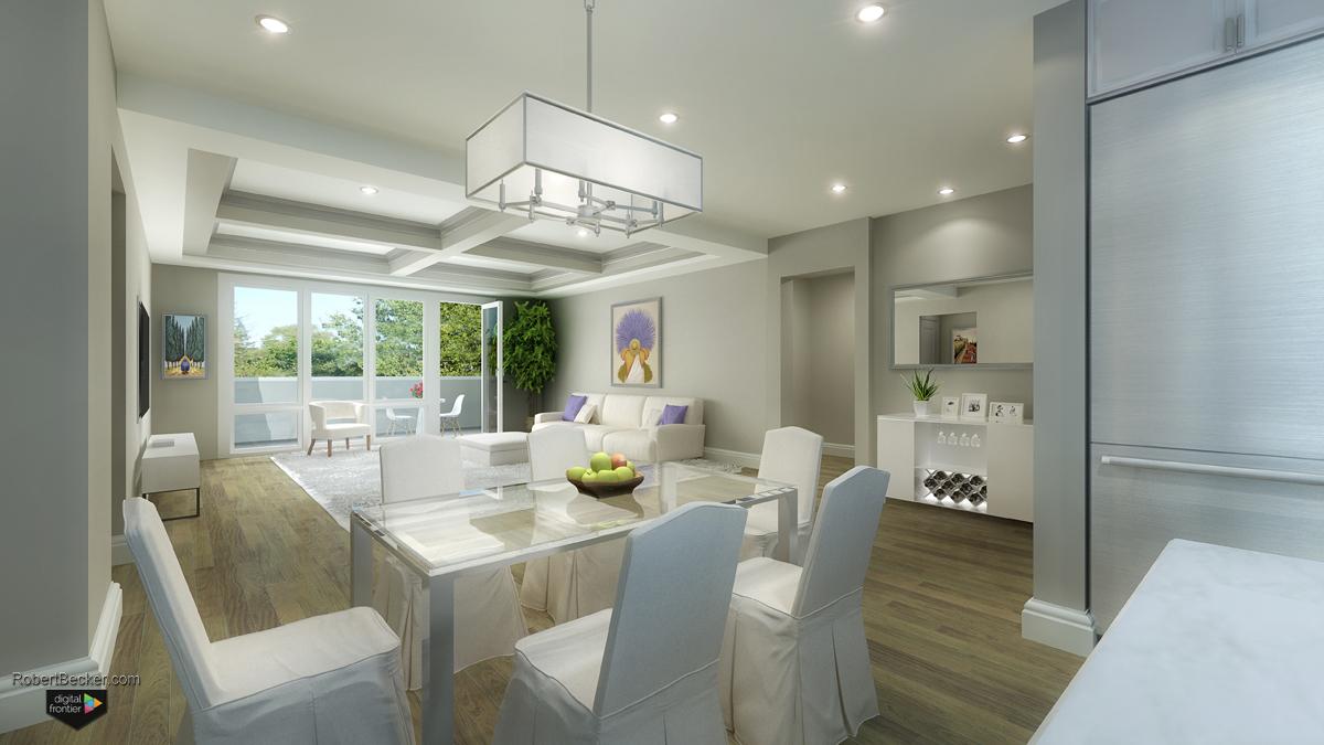 Lafayette Terrace marketing interior rendering