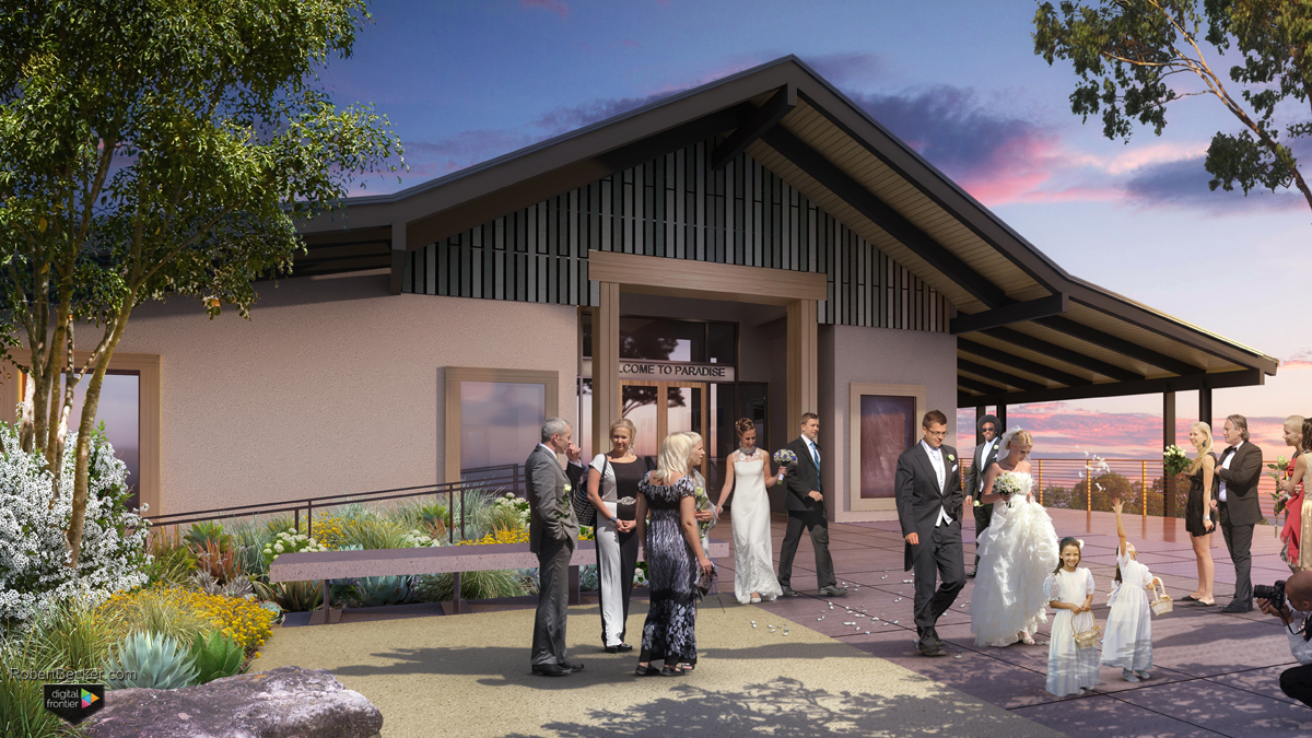 Paradise Ridge Winery wedding rendering