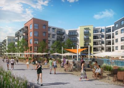 Riveredge Sacramento public space rendering