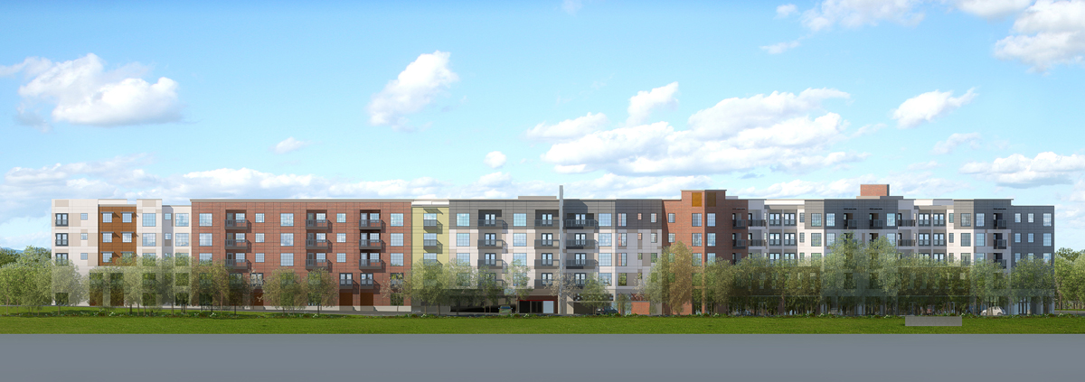 Sacramento rendered multifamily elevation