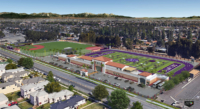 SAHS – Athletic Fields Masterplan digital aerial rendering