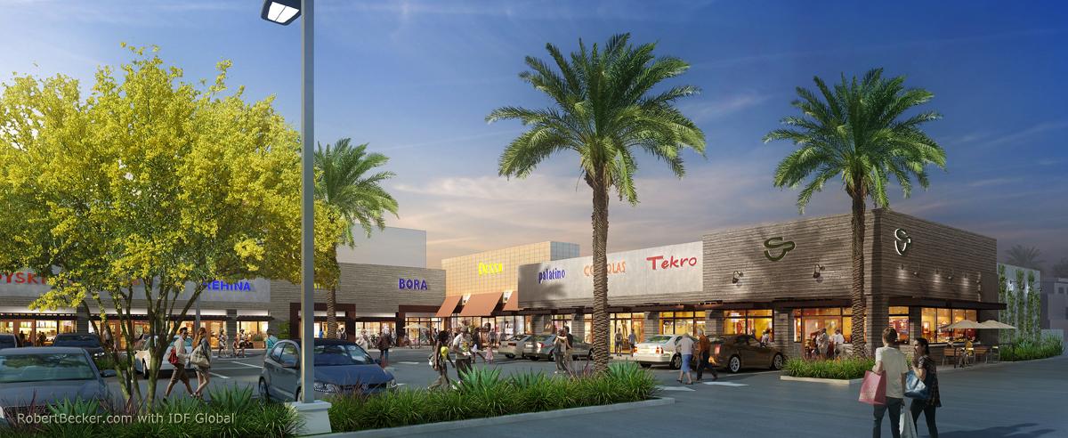 Sherman Oaks strip mall rendering